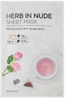 Missha Herb in Nude plátýnková maska s rozjasňujícím a hydratačním účinkem