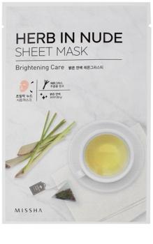 Missha Herb in Nude máscara em folha com efeito iluminador