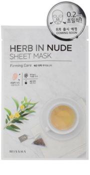 Missha Herb in Nude máscara em folha com efeito reafirmante