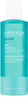Missha Super Aqua Oil Clear lozione tonica rinfrescante