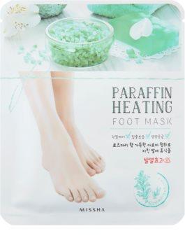 Missha Paraffin Heating mascarilla de parafina con efecto calor para pies