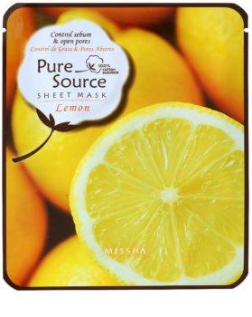 Missha Pure Source mascarilla limpiadora con jugo de limón
