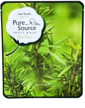 Missha Pure Source masca -efect calmant cu extract din arbore de ceai