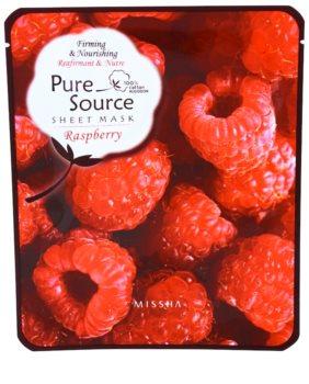 Missha Pure Source maseczka odżywcza z malinami
