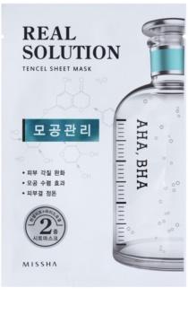 Missha Real Solution máscara em folha para redução de poros
