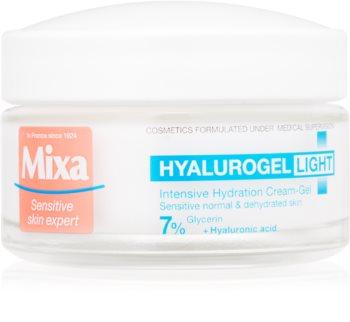 MIXA Hyalurogel Light hialuronsavval gazdagított intenzív hidratáló krém normál bőrre