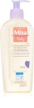 MIXA Atopiance успокояващо почистващо масло за коса и кожа, склонна към атопичен дерматит