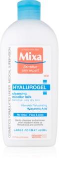 MIXA Hyalurogel почистващо мляко за тяло за суха или много суха кожа