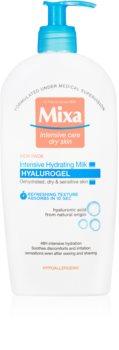 MIXA Hyalurogel intenzivni vlažilni losjon za telo za suho in občutljivo kožo