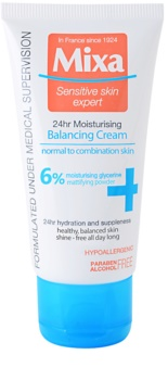 MIXA 24 HR Moisturising crema hidratanta cu efect de echilibrare pentru piele normală și mixtă
