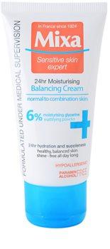 MIXA 24 HR Moisturising лек и овлажняващ балансиращ крем за нормална към смесена кожа