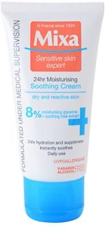 MIXA 24 HR Moisturising hidratantna i umirujuća krema za osjetljivu i netolerantnu kožu lica