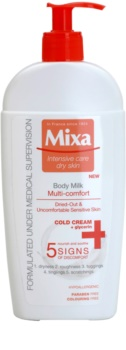MIXA Multi-Comfort lotiune de corp racoritoare pentru piele sensibila