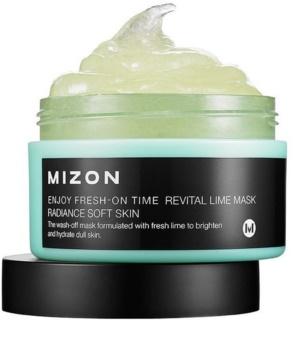 Mizon Enjoy Fresh-On Time ревитализираща маска със зелен лимон за отпусната кожа
