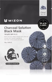 Mizon Charcoal Solution cleansing face sheet mask with activated charcoal