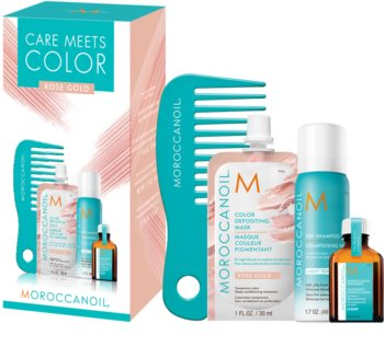 Moroccanoil Care Meets Color Set Rose Gold (For Blondes And Highlighted Hair)