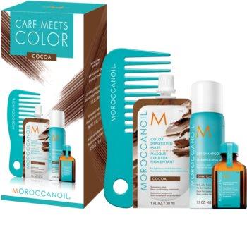 Moroccanoil Care Meets Color szett Cocoa (sötét hajra)