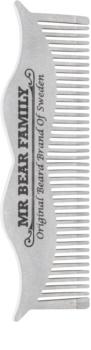 Mr Bear Family Grooming Tools Bartkamm aus Stahl