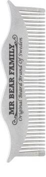 Mr Bear Family Grooming Tools stalowy grzebień do wąsów