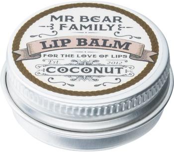 Mr Bear Family Coconut balzam na pery pre mužov