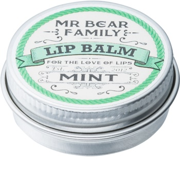 Mr Bear Family Mint balzam za ustnice za moške