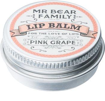 Mr Bear Family Pink Grape bálsamo labial para homens