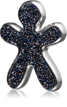 Mr & Mrs Fragrance Niki Crystal Nuit Des Etoiles parfum pentru masina reincarcabil Silver (Swarovski blue)