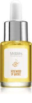 Mr & Mrs Fragrance Blanc Rosewood of Quebec olio profumato