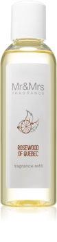Mr & Mrs Fragrance Blanc Rosewood of Quebec recharge pour diffuseur d'huiles essentielles