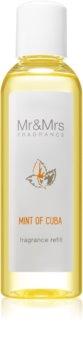 Mr & Mrs Fragrance Blanc Mint of Cuba aromadiffusor med genopfyldning