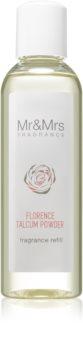 Mr & Mrs Fragrance Blanc Florence Talcum Powder aromadiffusor med genopfyldning