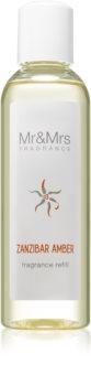 Mr & Mrs Fragrance Blanc Zanzibar Amber aroma-diffuser navulling