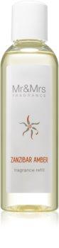 Mr & Mrs Fragrance Blanc Zanzibar Amber aromadiffusor med genopfyldning