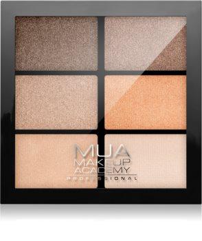 MUA Makeup Academy Professional 6 Shade Palette paletka očných tieňov