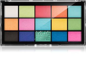 MUA Makeup Academy Professional 15 Shade Palette paletka očných tieňov