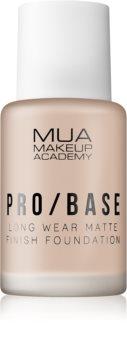 MUA Makeup Academy Pro/Base fond de teint matifiant longue tenue