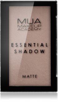 MUA Makeup Academy Essential matt szemhéjfestékek