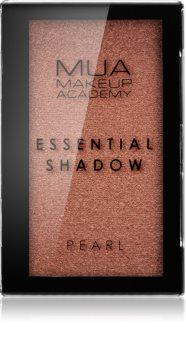 MUA Makeup Academy Essential perleťové oční stíny