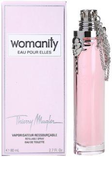 Mugler Womanity Eau pour Elles eau de toilette para mulheres 80 ml recarregável