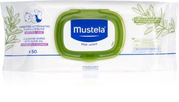 Mustela Bébé salviette detergenti umidificate per bambini con olio d'oliva