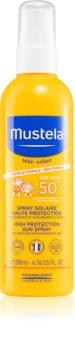 Mustela Bébé dětský sprej na opalování SPF 50