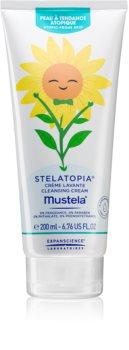 Mustela Bébé Stelatopia finom állagú tisztító krém nagyon száraz, érzékeny és atópiás bőrre