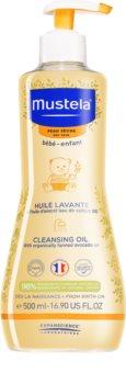 Mustela Bébé Dry Skin почистващо олио за деца от раждането им
