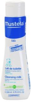Mustela Bébé Toillete tisztító tej hidratáló hatással
