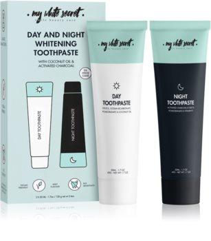 My White Secret Toothpaste Classic Mint fogápoló készlet (A fényes fehér fogakért)