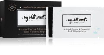 My White Secret Charcoal and Coconut Oil Zahnweißer-Streifen für die Zähne