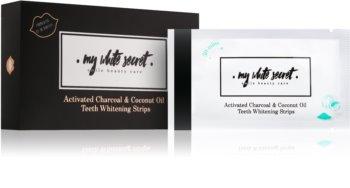 My White Secret Charcoal and Coconut Oil bieliace pásiky na zuby