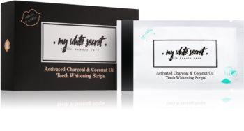 My White Secret Charcoal and Coconut Oil trakice za izbjeljivanje zuba za zube