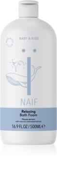 Naif Baby & Kids espuma de baño relajante