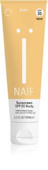 Naif Face Bräunungscreme für den Körper SPF 30
